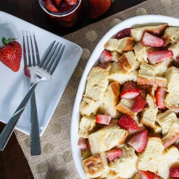 Strawberry Overnight French Toast Casserole
