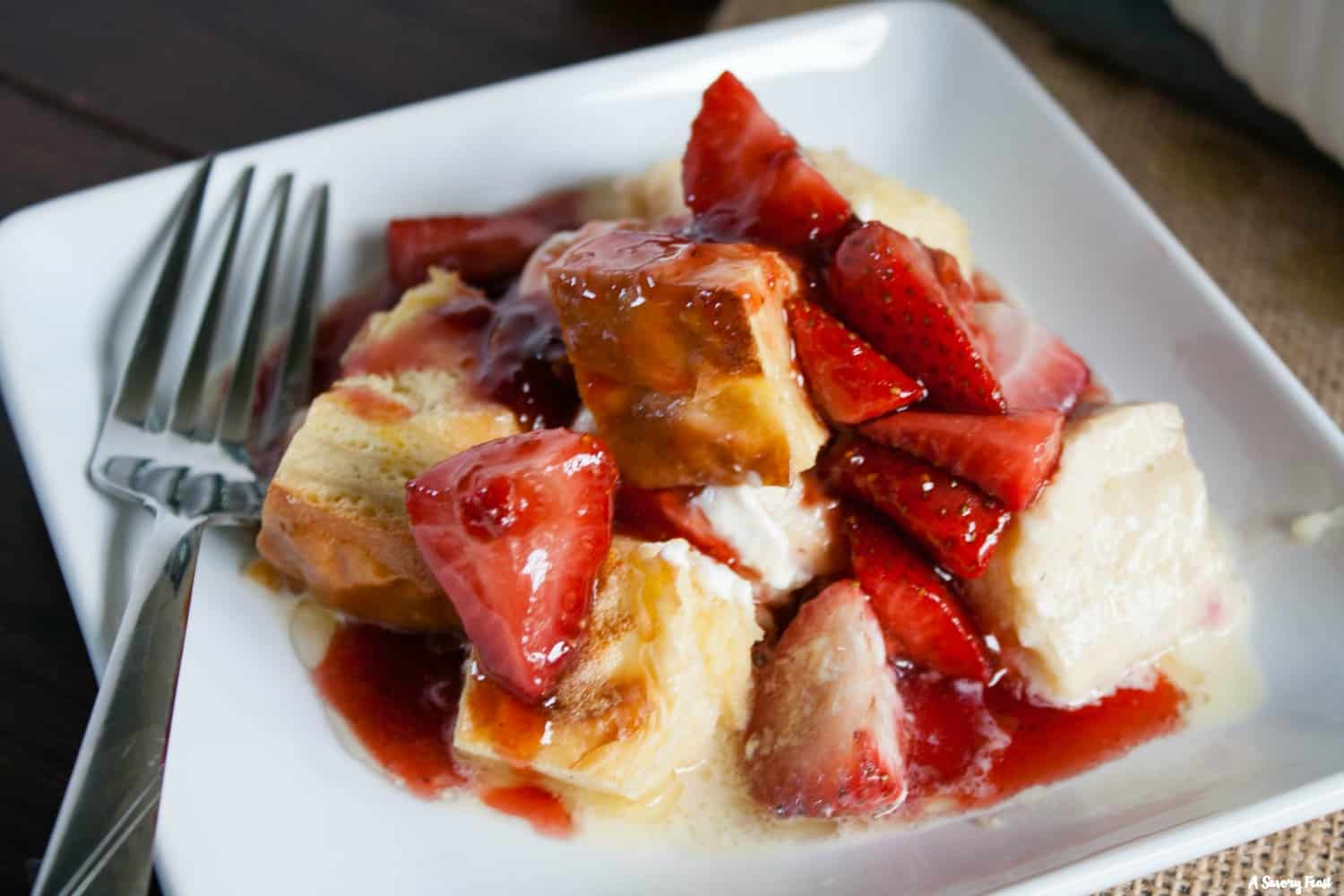 Strawberry Overnight French Toast