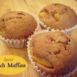 Spiced Peach Muffins