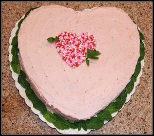 strawberry love cake