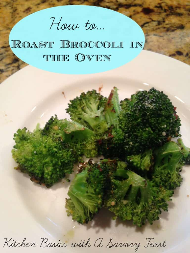 how to roast broccoli in the oven
