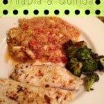 italian tilapia and quinoa