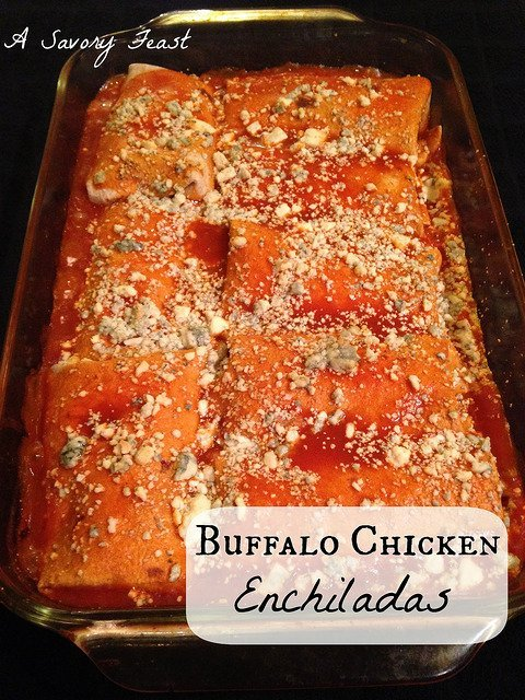 buffalo chicken enchiladas