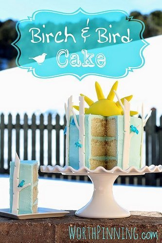 birch & bird cake