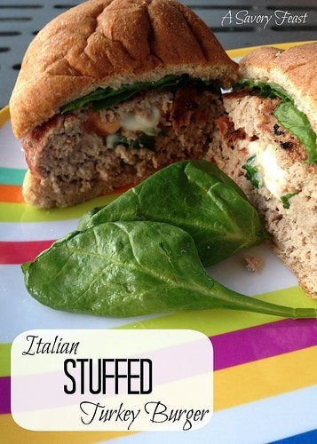 italian stuffed turkeyburger