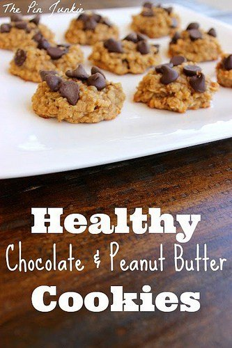 Healthy chocolate peanut butter cookies