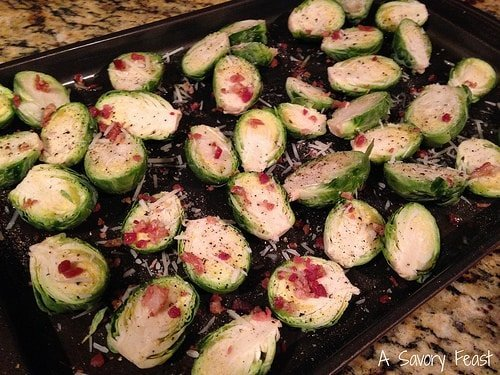 Parm and Bacon Brussel Sprouts