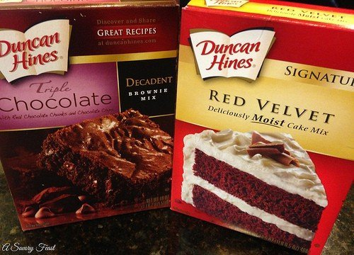 Cake Mix and Brownie Mix
