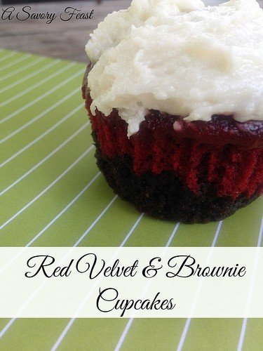 Red Velvet and Brownie Cupcakes