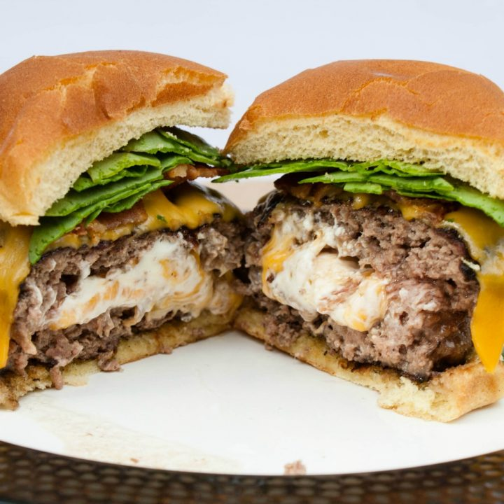 Cream Cheese Stuffed Burgers
