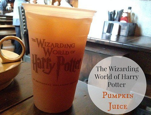 Pumpkin Juice at The Wizarding World of Harry Potter
