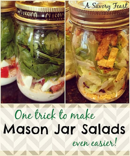 One trick to make Mason Jar Salads even easier!