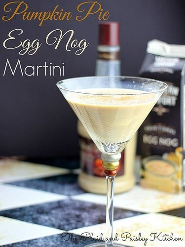 pumpkin pie egg nog martini