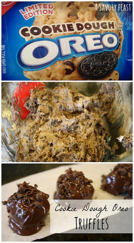 Cookie Dough Oreo Truffles