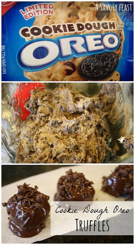 Cookie Dough Oreo Truffles