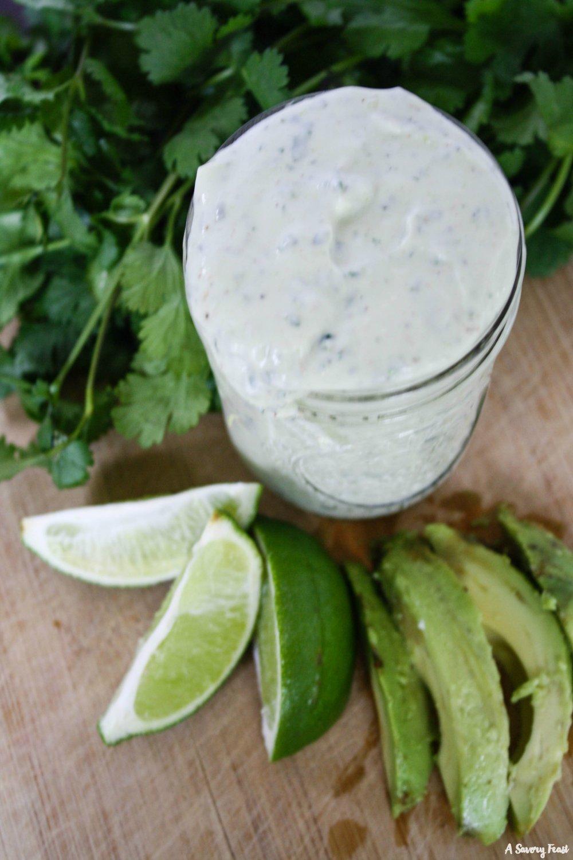 Avocado Ranch Salad Dressing recipe