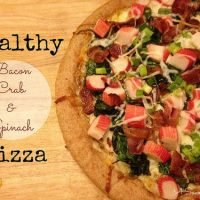 Healthy Bacon, Crab & Spinach Pizza