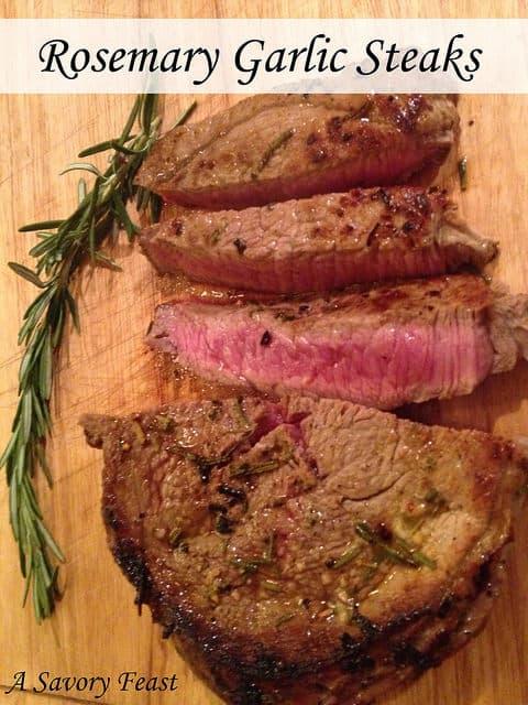 Rosemary Garlic Steaks