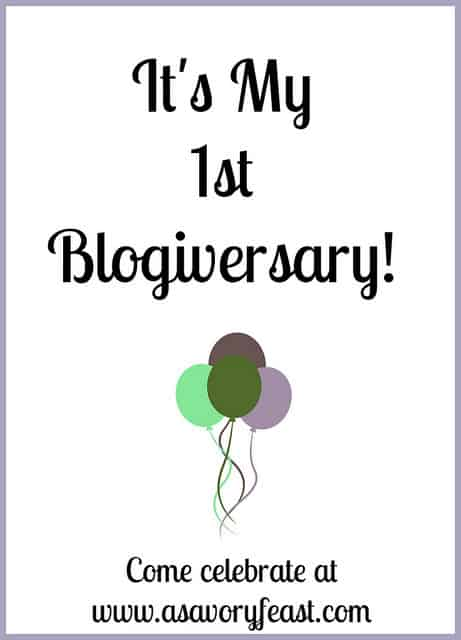 A Savory Feast's First Blogiversary