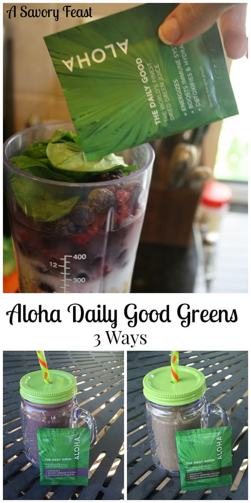 Aloha Daily Good Greens Three Ways