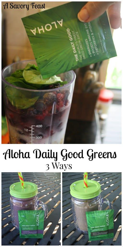 Aloha Daily Good Greens Three Ways