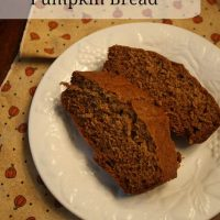 Better-for-you Pumpkin Bread