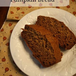 Better-for-you Pumpkin Bread