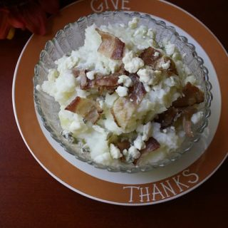 Blue Cheese & Bacon Mashed Potatoes