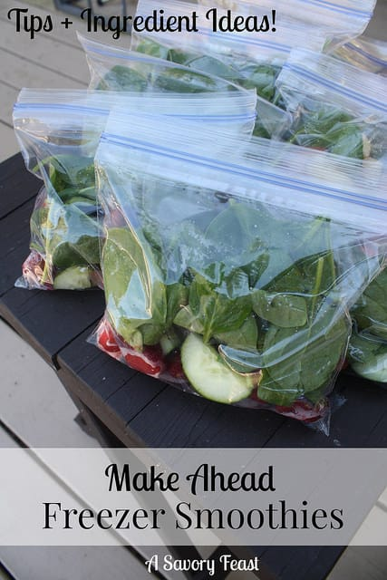 Make Ahead Freezer Smoothies