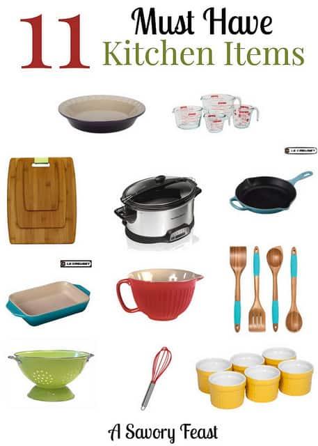11 must have kitchen items a wish list rh asavoryfeast com list of kitchen items in english list of kitchen items pdf