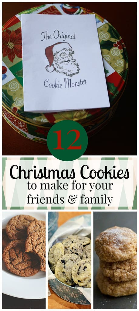 12 Christmas Cookies to make for your friends and family.
