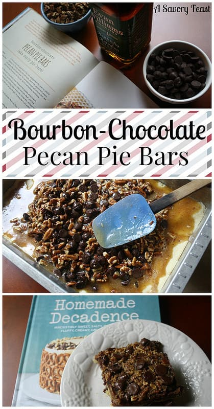Bourbon Chocolate Pecan Pie Bars and a review of Joy the Baker's Homemade Decadence