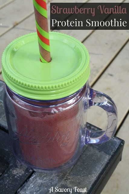 Strawberry Vanilla Protein Smoothie