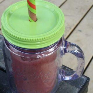 Strawberry Vanilla Protein Smoothie