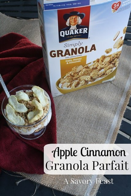 Apple Cinnamon Granola Parfait