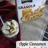 Apple Cinnamon Granola Parfait