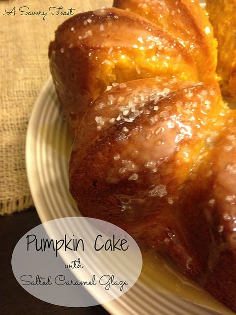 Pumpkin Cake with Salted Caramel Glaze Recipe