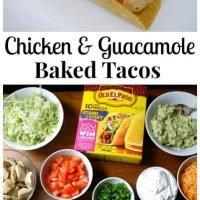 Chicken & Guacamole Baked Tacos