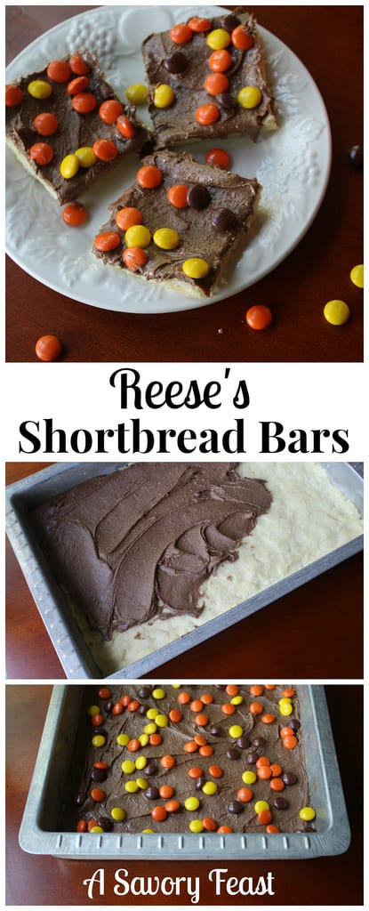Reese's Shortbread Bars