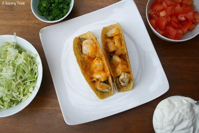 Chicken and Guacamole Baked Tacos Recipe