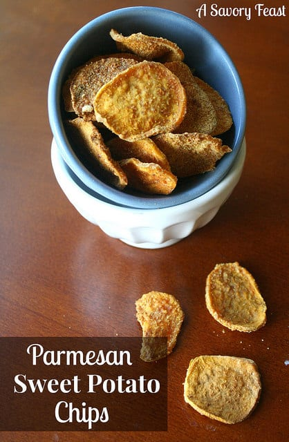 Parmesan Sweet Potato Chips