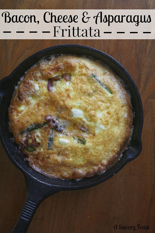 Bacon Cheese and Asparagus Frittata