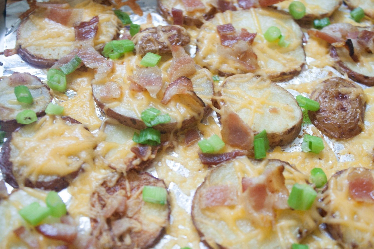 Your game day crowd will love these Baked Potato Nachos.