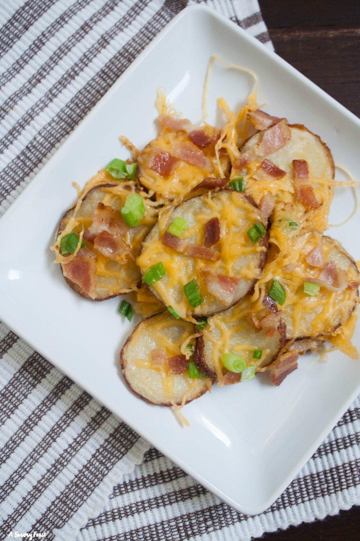 Get ready for football season with these Baked Potato Nachos!