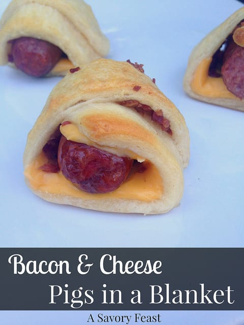 Bacon and Cheese Pigs in a Blanket