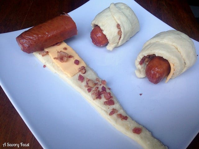 pigs in a blanket with cheese