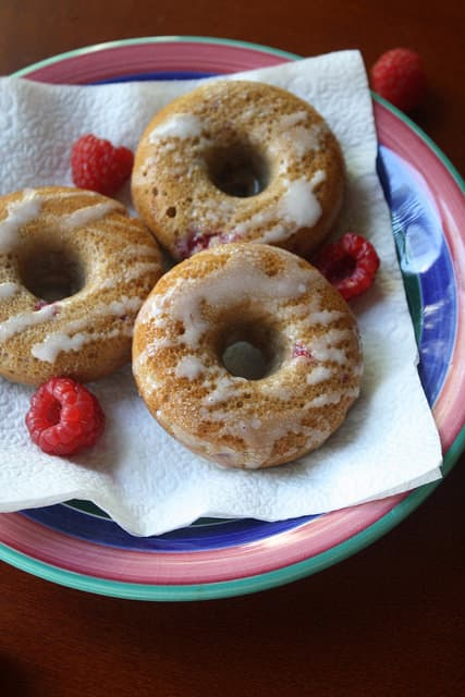 Raspberry Baked Donuts
