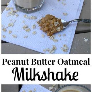Peanut Butter Oatmeal Milkshake
