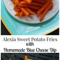 Alexia Sweet Potato Fries with Homemade Blue Cheese Dip