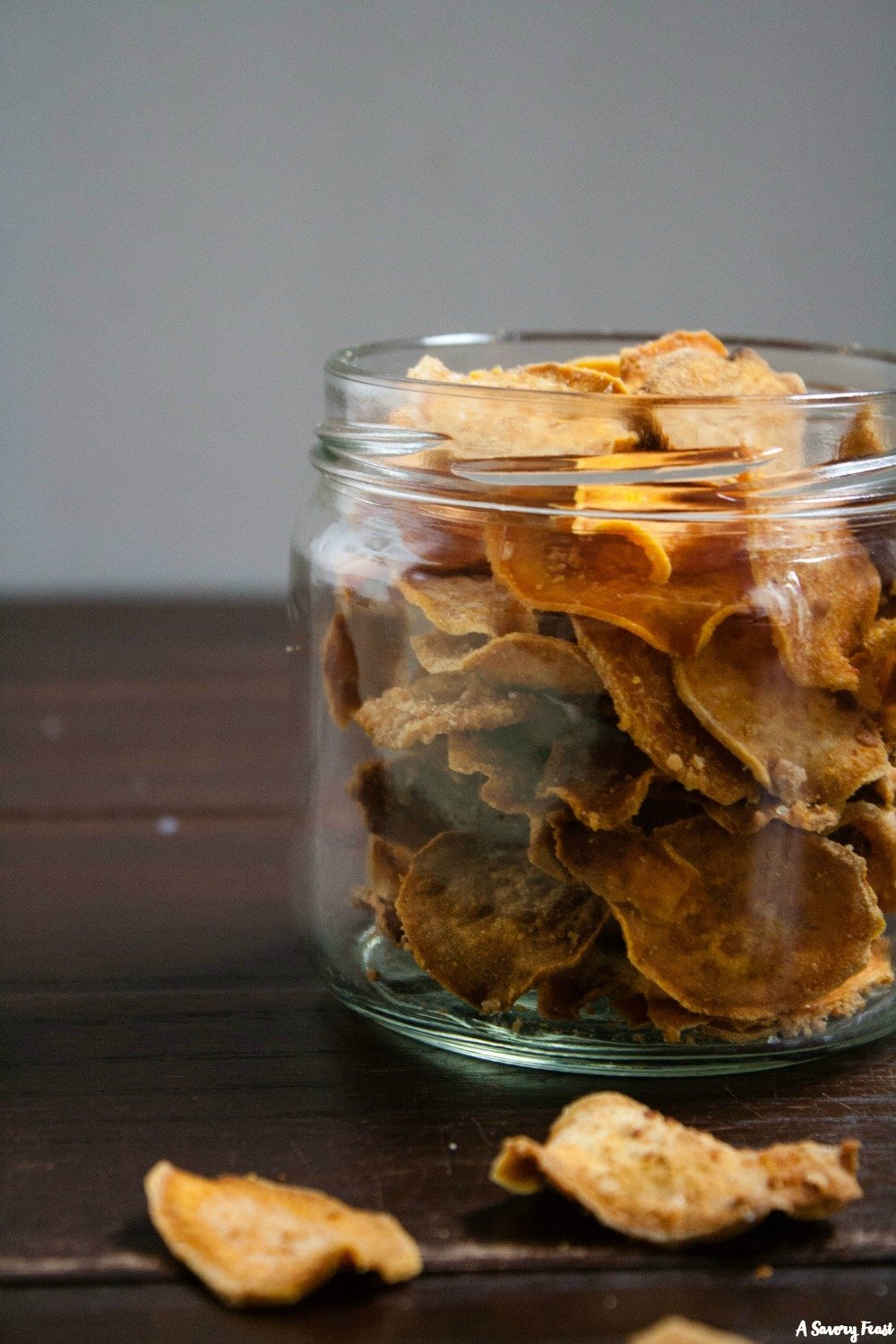 Reach for these healthy Parmesan Sweet Potato Chips when you are craving a salty snack